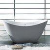 """AKDY 67"""" x 30"""" Soaking Bathtub"""