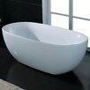 """AKDY 66.93"""" x 33.46"""" Soaking Bathtub"""