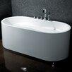 """AKDY 66.39"""" x 31.4"""" Soaking Bathtub"""