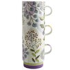 Fairmont and Main Ltd 3 Piece Stacking Leaf and Ferns Mug Set