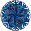 Grund Teppich Mandala in Blau