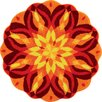 Grund Mandala Orange Area Rug