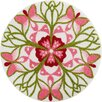 Grund Teppich Mandala Playfulness in Pink