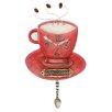 Allen Design Cappuccino Cup Clock