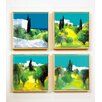Artvue Ott Landscapes 4 Piece Framed Art Print Set