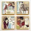 Artvue Gotzes Asia 4 Piece Framed Art Print Set