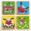 Artvue NAT Cows 4 Piece Framed Art Print Set