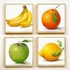 Artvue Golinelli Fruit 4 Piece Framed Graphic Art Set