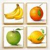 Artvue 4-tlg. Schild-Set Golinelli Fruit, Grafikdruck