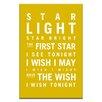 Artist Lane Star Light Star Bright by Nursery Canvas Art in Yellow