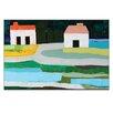 Artist Lane Farm Houses 2 by Anna Blatman Art Print on Canvas