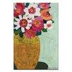 Artist Lane Yellow Pot by Anna Blatman Art Print Wrapped on Canvas
