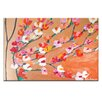 Artist Lane Orange Magnolia by Anna Blatman Art Print Wrapped on Canvas