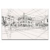Artist Lane Swan Street by Steve Leadbeater Graphic Art Wrapped on Canvas