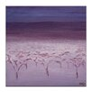 Artist Lane Morning Frost by Karen Hopkins Art Print Wrapped on Canvas in Purple