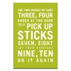 Artist Lane One, Two, Buckle My Shoe by Nursery Canvas Art in Lime