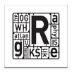 Artist Lane Type Model Kit by Steve Leadbeater Typography on Canvas