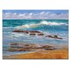 Artist Lane Tide's out by Jennifer Webb Art Print Wrapped on Canvas in Blue/Brown