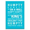 Artist Lane Humpty Dumpty by Nursery Canvas Art in Blue