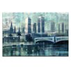 Artist Lane Winter Dusk on the Yarra by Jennifer Webb Art Print Wrapped on Canvas