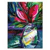 Artist Lane Floral Fantasy 3 by Kathy Morton Stanion Art Print Wrapped on Canvas