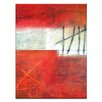 Artist Lane Time and Again #5 by Katherine Boland Art Print on Canvas in Red/Grey