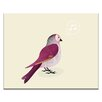 Artist Lane Tweet by Ayarti Graphic Art Wrapped on Canvas in Red/Ivory
