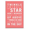 Artist Lane Twinkle, Twinkle Little Star by Nursery Canvas Art in Red