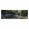 Artist Lane Boathouse Reflection by Andrew Brown Photographic Print Wrapped on Canvas in Green