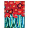 Artist Lane Red Poppy by Anna Blatman Art Print Wrapped on Canvas
