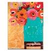"""Artist Lane Leinwandbild """"Aqua Jug"""" von Anna Blatman, Bilddruck in Orange/Blau"""