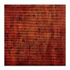 Artist Lane Burnt Orange Grid 1 by Katherine Boland Art Print on Canvas in Orange