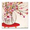 Artist Lane Red Table by Anna Blatman Art Print on Canvas