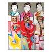 """Artist Lane Leinwandbild """"3 Geisha"""" von Anna Blatman, Bilddruck"""