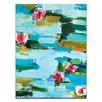 Artist Lane Water Lillies by Anna Blatman Art Print Wrapped on Canvas