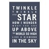 Artist Lane Twinkle, Twinkle Little Star by Nursery Canvas Art in Charcoal