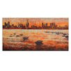 Artist Lane CBD Sunset from Williamstown by Jennifer Webb Art Print Wrapped on Canvas