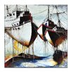 Artist Lane Moored by Olena Kosenko Graphic Art Wrapped on Canvas