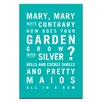 Artist Lane Mary, Mary Quite Contrary by Nursery Canvas Art in Teal