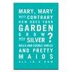 Artist Lane Leinwandbild Mary, Mary Quite Contrary von Nursery