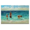Artist Lane Last Paddle by Jennifer Webb Art Print Wrapped on Canvas in Blue/Brown