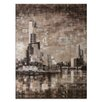Artist Lane Yarra View II by Jennifer Webb Art Print on Canvas in Brown/Black