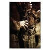 Artist Lane Old Sax by Caroline Gorka Photographic Print Wrapped on Canvas