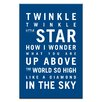 Artist Lane Twinkle, Twinkle Little Star by Nursery Canvas Art in Navy