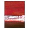 Artist Lane White Line Divide 1 by Teresa Ventura Art Print Wrapped on Canvas