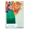 """Artist Lane Leinwandbild """"Green Vase"""" von Anna Blatman, Bilddruck"""