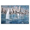 Artist Lane Sailing on Albert Park Lake by Jennifer Webb Art Print Wrapped on Canvas