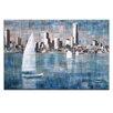 "Artist Lane Leinwandbild ""Sailing on Albert Park Lake"" von Jennifer Webb, Kunstdruck"