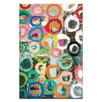 Artist Lane Coloured Circles by Anna Blatman Art Print Wrapped on Canvas