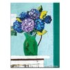 Artist Lane Green Jug Geraniums by Anna Blatman Art Print Wrapped on Canvas